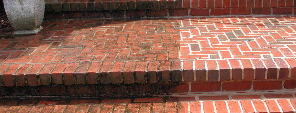 Brick Steps and Stairs Cleaning